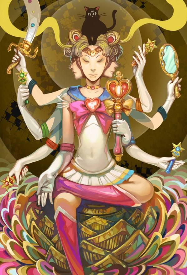 Mandala Moon by Nozomu Ikeuchi - Sailor Moon - Anime - Manga