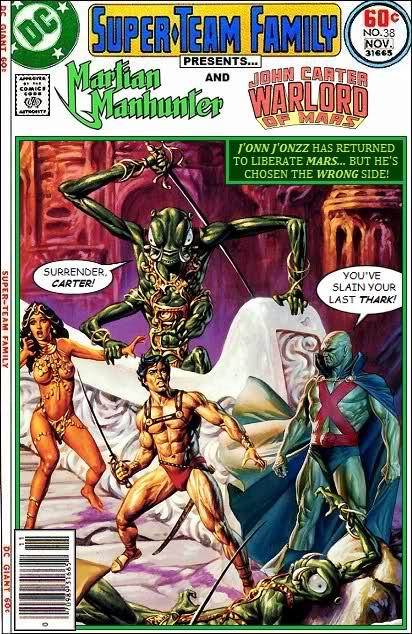 Martian Manhunter and John Carter of Mars Team-Up - Comics Crossover
