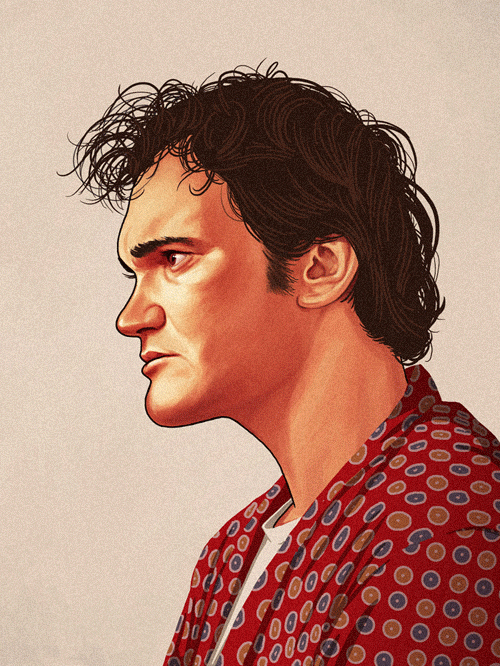 Jimmie Dimmick (Quentin Tarantino) from Pulp Fiction by Mike Mitchell