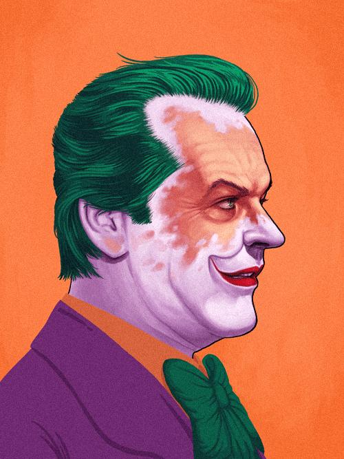 The Joker (Jack Nicholson) from Batman by Mike Mitchell - Tim Burton