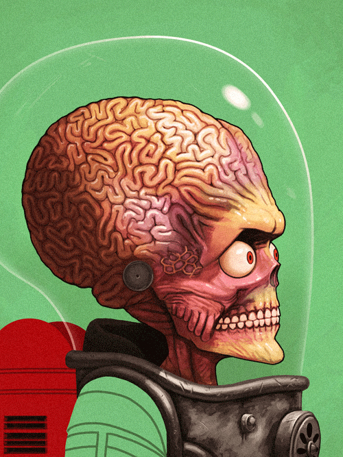 Martian from Mars Attacks by Mike Mitchell - Tim Burton