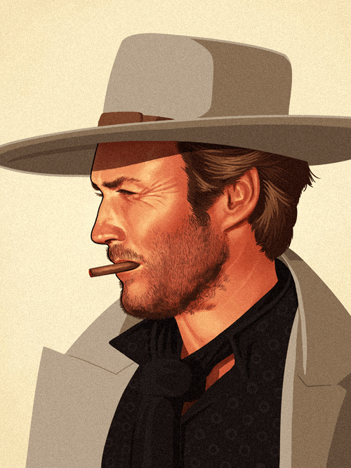 Blondie (Clint Eastwood) from The Good, the Bad and the Ugly by Mike Mitchell