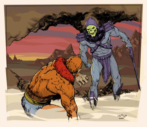 Skeletor cows Beastman by Laemeur - Masters of the Universe