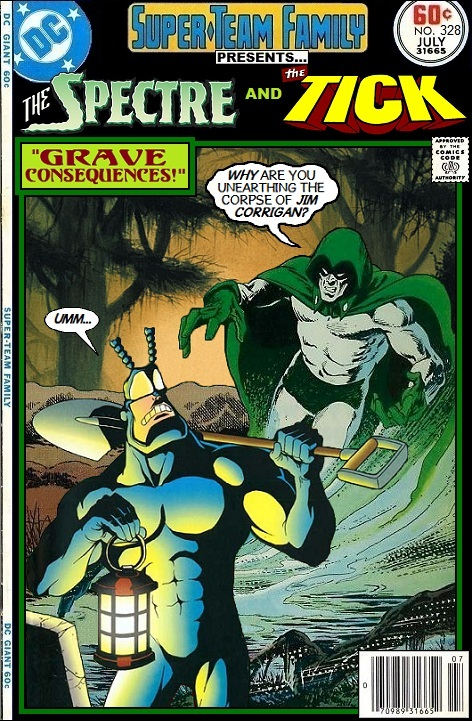 Spectre and Tick Team-Up - DC x New England Comics Crossover - Ben Edlund
