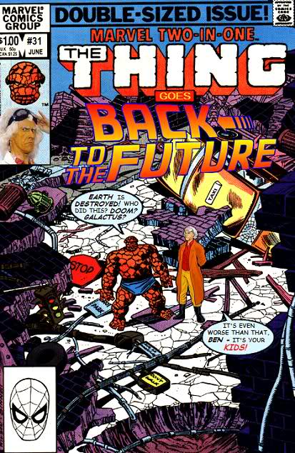 Thing Goes Back to the Future - Doc Brown - Comics Crossover