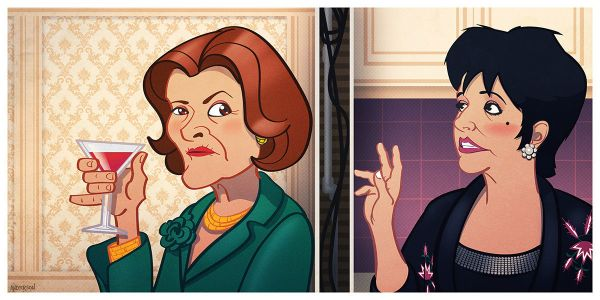 Lucille Bluth vs Lucille Austero by Tim Anderson - Arrested Development
