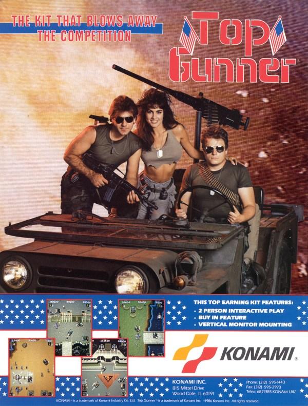 Top Gunner (1986) - Konam Arcade Flyer