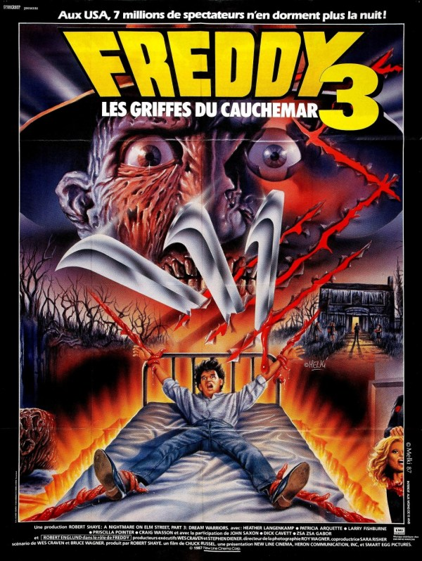 A Nightmare on Elm Street 3: Dream Warriors - French Poster