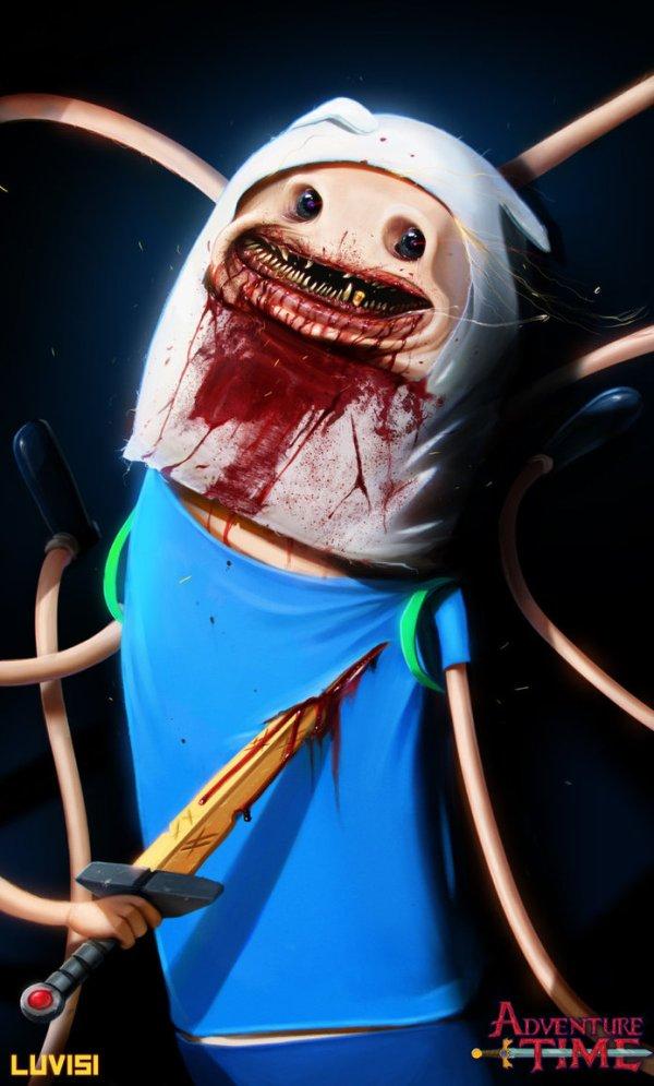 Nightmare Finn by Dan LuVisi - Adventure Time, Pendleton Ward, Cartoon Network