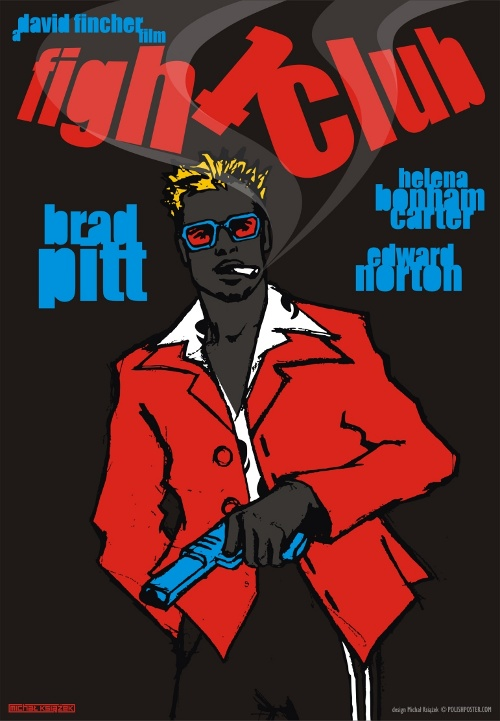 Polish Fight Club Poster - Chuck Palahniuk, David Fincher
