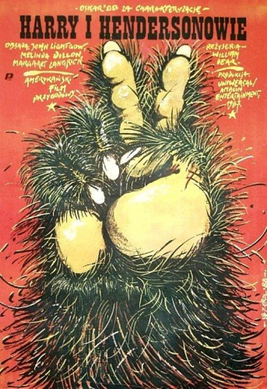 polish harry and the hendersons poster