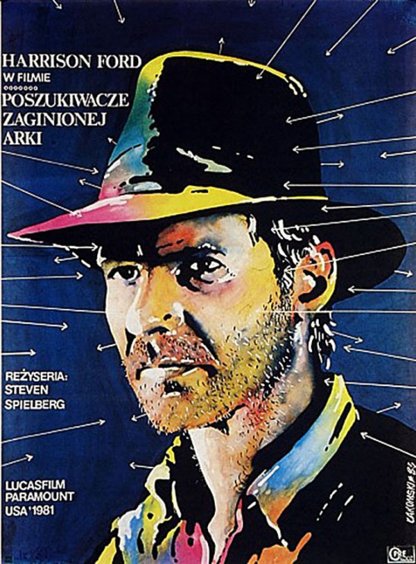 polish raiders of the lost ark poster - indiana jones, harrison ford