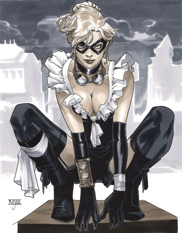 Steampunk Black Cat by Mahmud A. Asrar - Marvel Comics Art