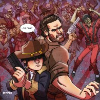 The Walking Dead vs Michael Jackson's Thriller by Marco D'Alfonso - m7781
