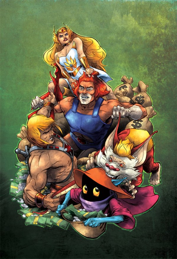 thundercats vs he-man and masters of the universe by laemeur and oICEMANo