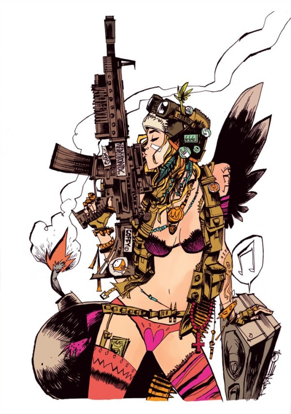 Everybody Loves TANK GIRL Cover Art by Jim Mahfood
