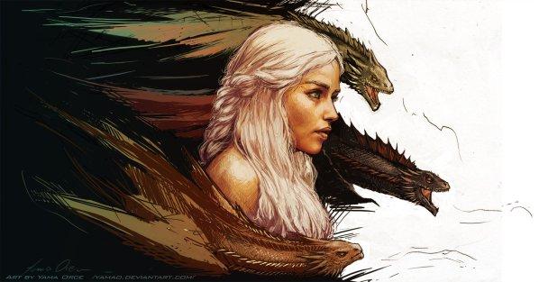Mother of Dragons by Yama Orce - Daenerys Targaryen - Game of Thrones Art