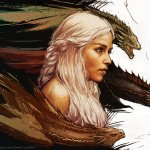Mother of Dragons by Yama Orce - Daenerys Targaryen - Game of Thrones Art