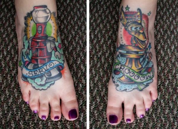 Mystery Science Theater 3000 tattoos by Briza Buschemi at True Blue Tattoo in Austin TX