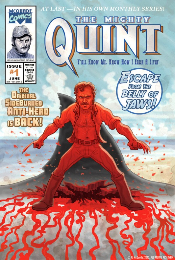 Quint from Jaws as Wolverine by PJ McQuade