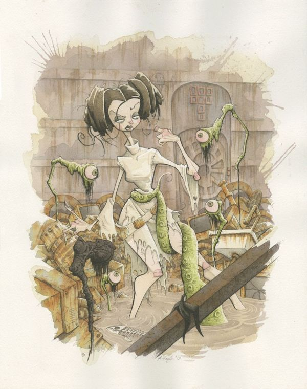All Eyes on You by Gris Grimly - Princess Leia - star wars art