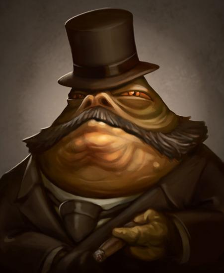 Kingpin - Victorian Jabba the Hutt - Steampunk Star Wars Art by Greg Peltz