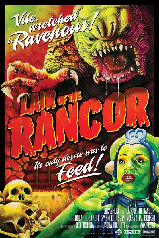 Lair of the Rancor by Mark Daniels - star wars art