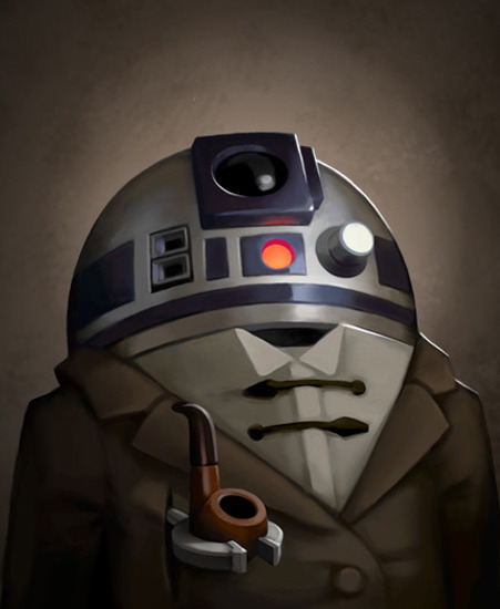 Copilot - Victorian R2-D2 - Steampunk Star Wars Art by Greg Peltz