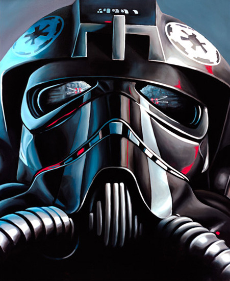 TIE Fighter Pilot by Christian Waggoner - Star Wars art