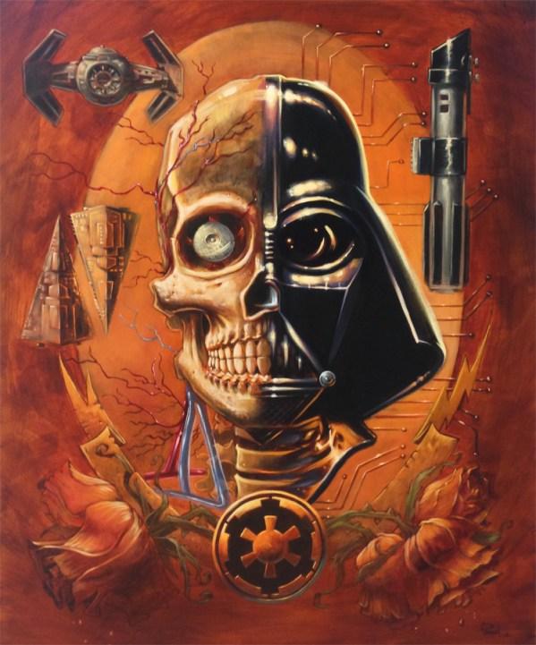 Vader's Anatomy by Augie Pagan - Star Wars Art