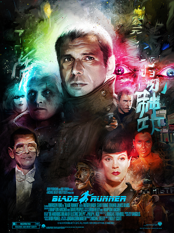 Blade Runner Poster by Vlad Rodriguez