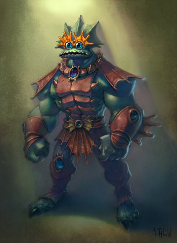 Mer-Man by Matthew S. Armstrong - Masters of the Universe Art