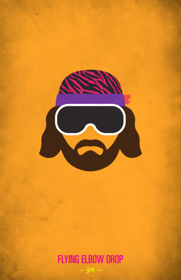 Macho Man Randy Savage Minimalist WWF Wrestling Poster
