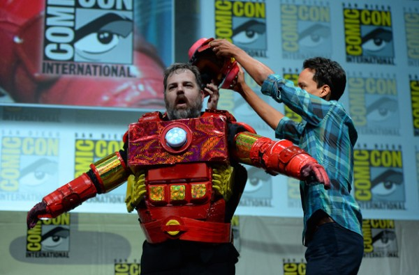 Dan Harmon in Iron Man Costume with Danny Pudi at Comic-Con - Made by Rob Schrab
