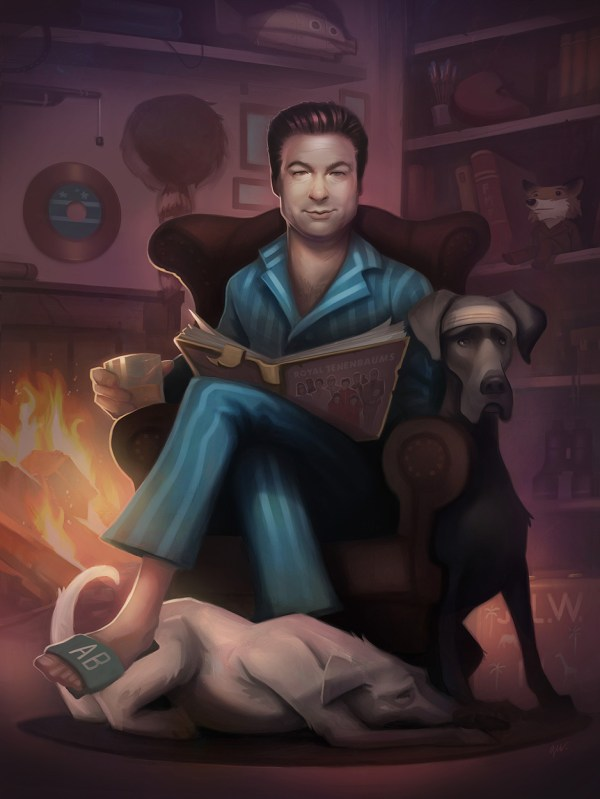 Alec Baldwin - The Royal Tenenbaums - The Storyteller by Dave Greco
