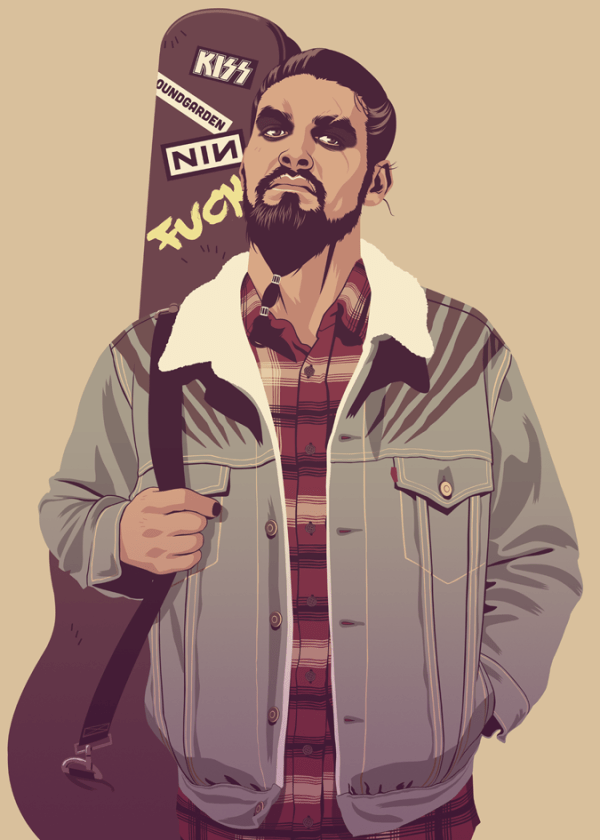 Khal Drogo 90s Style by Mike Wrobel - Game of Thrones
