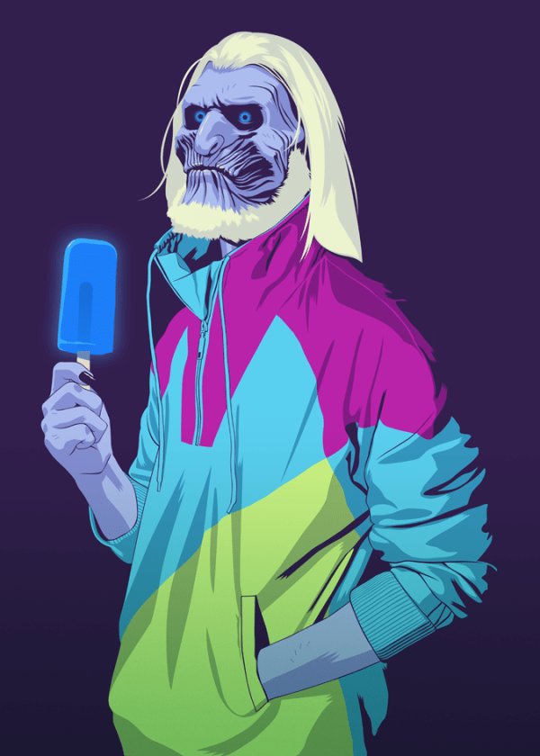 White Walker 90s Style Game of Thrones by Mike Wrobel