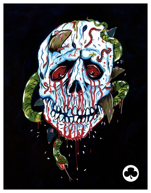 Halloween III Skull Mask by Trevor Henderson - Season of the Witch, Silver Shamrock