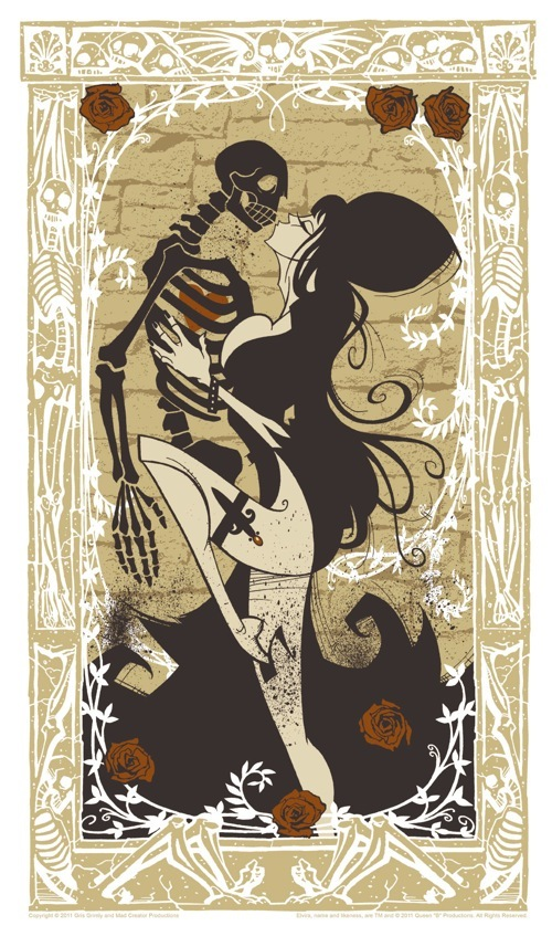Elvira Poster by Gris Grimly - Mad Creator Productions - Horror Art