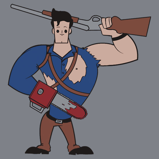 Evil Dead's Ash x Johnny Bravo Mashup by Ratigan