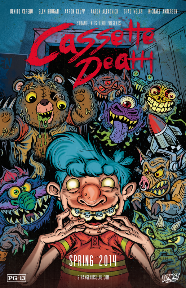 Cassette Death - Poster by James Groman - Strange Kid Comics Magazine