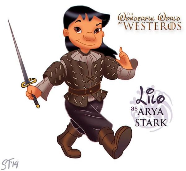 Lilo as Arya Stark - Disney Princesses x Game of Thrones
