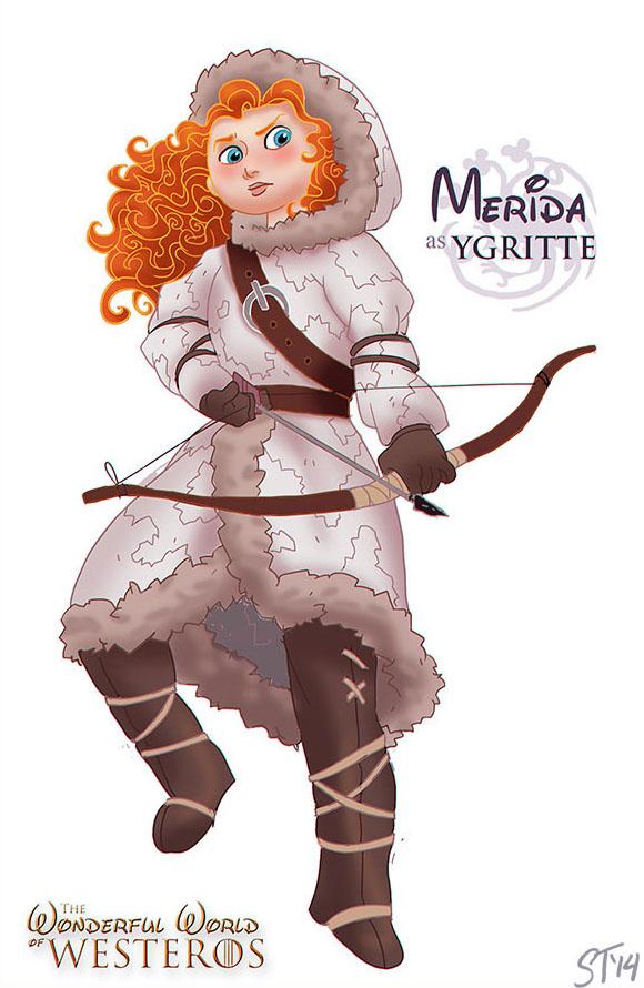 Merida (Brave) as Ygritte - Disney Princesses x Game of Thrones