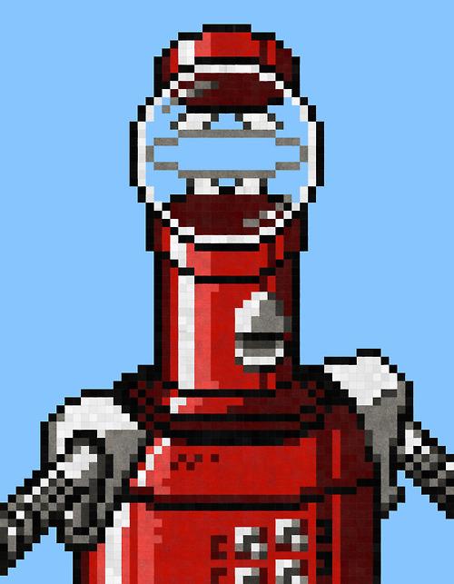 Tom Servo - MST3K Pixel Art