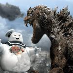 Godzilla vs  Mr. Stay Puft Wallpaper