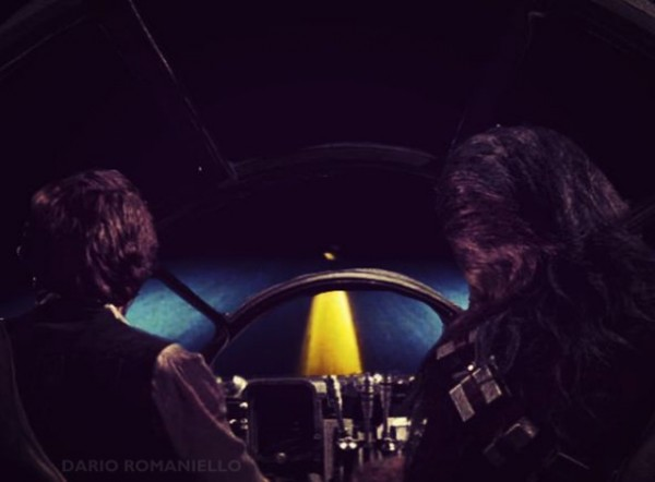 Star Wars x David Lynch's Lost Highway - Millennium Falcon