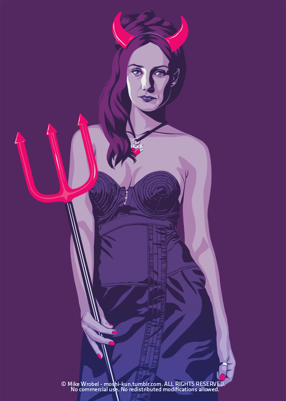 Melisandre 80s/90s Style - Sexy Devil - Game of Thrones Art by Mike Wrobel
