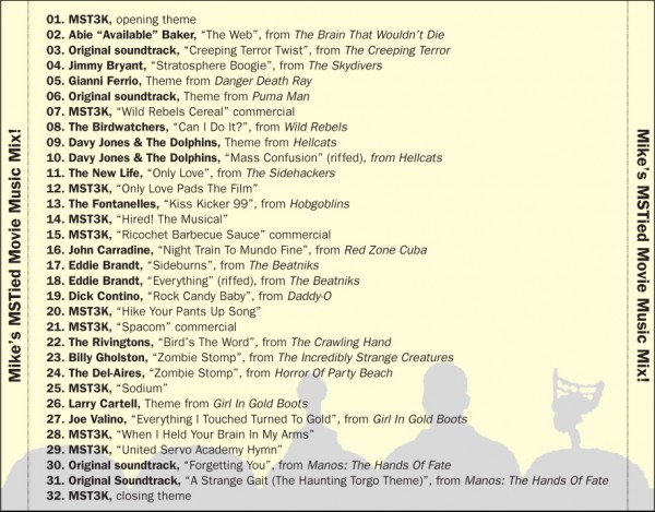 MST3K Mix CD - Mystery Science Theater 3000 Music - tray card 1