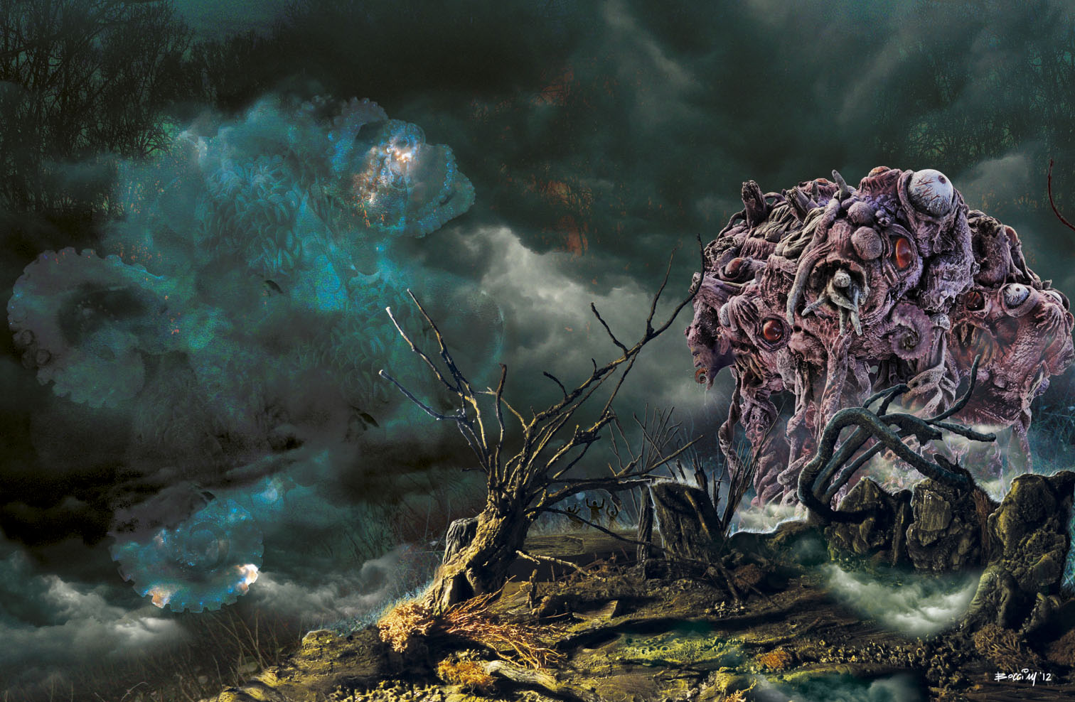 Game of Thrones, Twin Peaks and H  P  Lovecraft Art by