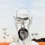 Walter White by Ralph Steadman - Breaking Bad Blu-ray Cover
